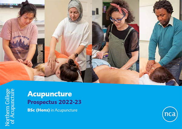 Download or request a prospectus if you're interest in studying on our acupuncture courses