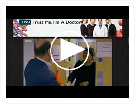 Hugh MacPherson on the BBC2 programme 'Trust Me, I'm A Doctor'.
